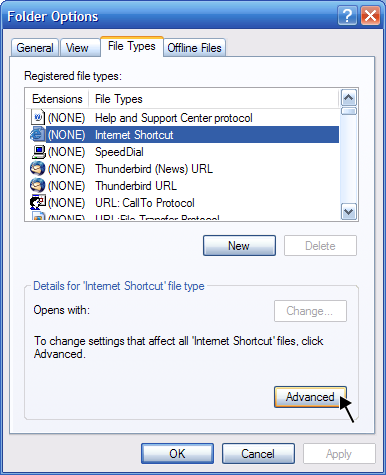 start ie with url shortcut